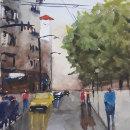 Mi Proyecto del curso: Paisajes urbanos en acuarela. A Fine Art project by Leticia Rossi - 05.11.2020