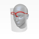 Visor Pandémico. Um projeto de Design, 3D, Design industrial, Design de produtos, Modelagem 3D, 3D Design e Design digital de Ninio Mutante - 27.03.2020