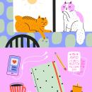 Morning Rituals. Um projeto de Ilustração digital de Sara Tomate - 16.05.2020