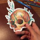 Sticker skull . Un proyecto de Ilustración de Daniela Salazar - 17.05.2020