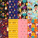 Coco: Diseño de patrones ilustrados. Um projeto de Ilustração digital, Estampagem e Ilustração infantil de Camila Bonjour - 17.05.2020