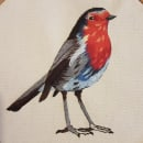 Mi Proyecto del curso: Pintar con hilo: técnicas de ilustración textil. Um projeto de Bordado de Ana María Herrera Yervis - 19.05.2020