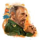 Fidel Castro Infographic. Un progetto di Illustrazione, Infografica, Illustrazione digitale e Illustrazione di ritratto di Ricardo Macía Lalinde - 20.05.2020
