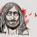 Imagine de John Lennon. La vida y la muerte.. Un proyecto de Ilustración digital de Ninfa Montes - 22.05.2020