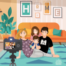 Family time at home. Un proyecto de Animación 2D de Rose Villacorta - 12.05.2020