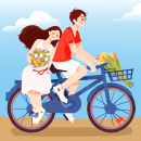 bicycle date ❤. Un proyecto de Animación 2D de Rose Villacorta - 13.04.2020