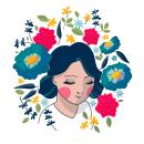 Mi Proyecto del curso: Retrato ilustrado con elementos botánicos. Um projeto de Ilustração, Ilustração de retrato e Ilustração botânica de Lina Yumi Traspaderne - 24.05.2020