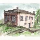 Mi Proyecto del curso: Dibujo arquitectónico con acuarela y tinta 1. Um projeto de Ilustração Arquitetônica de Ramon Ojeda Peral - 23.05.2020