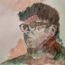 Mi Proyecto del curso: Retrato artístico en acuarela. Un proyecto de Pintura a la acuarela de Victor Perez-Gutierrez - 25.05.2020