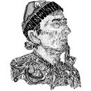 My project in Hand-Drawn Typographic Portrait course. Um projeto de Ilustração, Ilustração de retrato e Tipografia de Sarah King - 25.05.2020