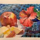 Painting an outdoor Still Life - Watercolor Demo. Un progetto di Belle arti, Pittura , e Pittura ad acquerello di Gabriel Ramos - 24.05.2020