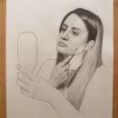 Autorretrato a lápiz. Un proyecto de Dibujo a lápiz, Dibujo de Retrato y Dibujo artístico de Luz de María Felices Lizarbe - 18.05.2020