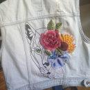 Mi Proyecto del curso: Diseño de moda: pintura y bordado sobre prendas. A Stickerei und Textile Illustration project by Pirizosa pi - 03.06.2020