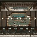 Cocktail Bar in Stockholm. Um projeto de 3D, Arquitetura, Arquitetura de interiores, Modelagem 3D, 3D Design, Interiores e Ilustração Arquitetônica de Cosmorama Visuals - 04.06.2020