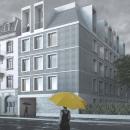 Apartment building in Lausanne. Um projeto de 3D, Arquitetura, Arquitetura de interiores, Interiores e Ilustração Arquitetônica de Cosmorama Visuals - 04.06.2020