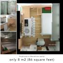 Tiny house 8m2. Um projeto de 3D, Arquitetura, Arquitetura de interiores e Arquitetura digital de Una Ana - 03.06.2020