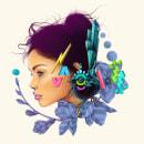 Luna: Retrato creativo ilustrado con Procreate. A Fine Art, Drawing, Digital illustration, and Portrait illustration project by Edgar Islas - 06.05.2020