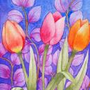 Mi Proyecto del curso: Técnicas de acuarela en negativo para ilustración botánica. Um projeto de Pintura em aquarela e Retoque fotográfico de Cristina González - 05.06.2020