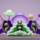 Mr. Kat & Friends Carrusel. Um projeto de 3D, Design de personagens, Animação de personagens, Animação 3D, Design de personagens 3D e 3D Design de Jaime Alvarez Sobreviela - 06.06.2020