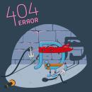 404 Error Page. Un proyecto de Diseño gráfico, Diseño interactivo, Diseño Web, Ilustración digital y Diseño digital de Jose Díaz Baena - 07.06.2020