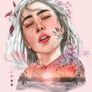 Atardecer. Un proyecto de Ilustración, Pintura a la acuarela e Ilustración de retrato de Mary Orsini - 07.06.2020