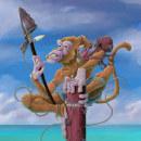 Mi Proyecto del curso: The Pirate Monkey. Um projeto de Ilustração, Animação, Design de personagens, Comic, Desenho, Ilustração digital e Concept Art de Jaime Martin Tamayo - 09.06.2020