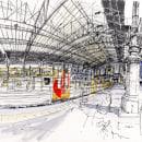 Urban Sketching . A Illustration, Architektur, Bildende Künste, Zeichnung, Aquarellmalerei, Artistische Zeichnung und Architektonische Illustration project by yolahugo - 09.06.2020