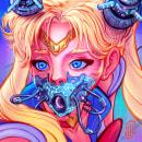 Sailor Moon Cyberpunk Fanart. A Illustration, Character Design, Digital illustration, Concept Art, Digital Drawing, and Digital Painting project by Ricardo Nask - 06.10.2020