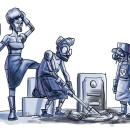 Las enterradoras bionicas. A Comic project by Ficci Orama - 06.15.2020