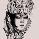 Proyecto del curso: ilustración digital de tatuajes . Un proyecto de Diseño de tatuajes de Valentina Palombella - 16.06.2020