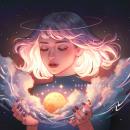 Moon Catcher. A Illustration project by Karmen Loh (Bearbrickjia) - 06.16.2020