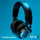 Audio Technica ATH M50X. Un proyecto de Fotografía, Diseño gráfico, Fotografía de producto y Fotografía de estudio de Andrés Felipe Téllez - 21.06.2020