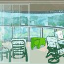 Quarantine on the Beach - Guarujá - SP - Brazil. Un projet de Illustration, Architecture, Créativité, Illustration architecturale , et Dessin numérique de Raphael Libonati - 22.06.2020