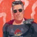Ilustración con Rock and Roll y superpoderes: Loquillo.. Un proyecto de Ilustración digital, Ilustración de retrato y Dibujo de Retrato de Eloi F Valle Urbina - 24.06.2020