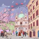 My project in Architectural Illustration: Capture a City's Personality course. Um projeto de Animação 2D de sofiagegunde - 28.06.2020