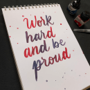 Mi Proyecto del curso: Caligrafía itálica con brush pen. Um projeto de Caligrafia com brush pen de Joselyn Ramos Viacava - 30.06.2020