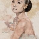 Mi Proyecto del curso: Retrato ilustrado con Procreate. A Portrait illustration, and Digital illustration project by Ana Rubio - 06.30.2020