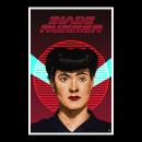 Poster del film Blade Runner con Rachael en pixel art. Um projeto de Pixel Art de Victor Manuel Villalta Barbero - 07.07.2020
