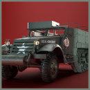 M3 HALFTRACK_VEHICLE HARDSURFACE. Um projeto de 3D, Produção, Animação 3D, Modelagem 3D e Videogames de Jesús Parras Chica - 15.02.2020