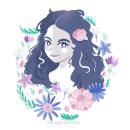My project in Illustrated portraits with botanical elements course. Um projeto de Ilustração, Ilustração digital, Ilustração de retrato e Desenho de Retrato de Ruby Perez - 12.07.2020