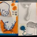 Primeiro exercício 🐈 MEU ANJO. Um projeto de Ilustração, Design de personagens, Artes plásticas, Pintura, Colagem, Criatividade, Desenho a lápis, Desenho, Stor, board, Desenvolvimento de Portfólio, Desenho artístico, Ilustração infantil, Pintura Acrílica, Pintura a óleo, Sketchbook e Ilustração com tinta de Kiko Mascarenhas - 12.07.2020