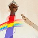Frente al fascismo, puños arriba !. Um projeto de Ilustração de alicia borges - 14.07.2020