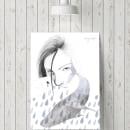 Ilustración   Blåhval. Um projeto de Ilustração, Desenho a lápis, Desenho, Ilustração digital, Ilustração de retrato, Desenho de Retrato, Desenho realista, Desenho artístico, Decoração de interiores e Desenho digital de Vanessa Estefa - 11.04.2020