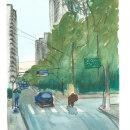 Meu projeto do curso: Paisagens urbanas em aquarela rua Portugal x Pe. Antônio - Brooklim - SP. A Watercolor Painting project by Walter Biazetti - 07.22.2020