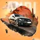 Proyecto publicitario Audi. Um projeto de Pós-produção, Retoque fotográfico, Concept Art,  Fotografia publicitária e Fotomontagem de franklin henao - 26.07.2020