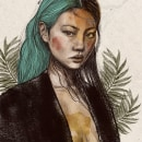 Mi Proyecto del curso: Retrato ilustrado con Procreate. Um projeto de Desenho digital de Gabriela Medellin - 27.07.2020
