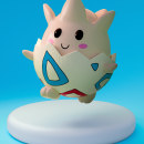 Togepi - Pokemon. A Design, and 3d modeling project by Laura Beneto - 07.24.2020