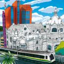 Este boceto sobre el Centro de Medellín. Autor: Jaime Eduardo Toro T. Mi Proyecto del curso: Ilustración arquitectónica: capta la personalidad de una ciudad. Un proyecto de Ilustración arquitectónica de JAIME EDUARDO TORO TOBÓN - 27.07.2020