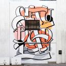 Mural SAUDADE pintado no festival Ladies Who Paint. Un proyecto de Pintura, Caligrafía, Lettering, H y lettering de Cyla Costa - 28.07.2020