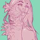 Mujeres, plantas y emociones. Un proyecto de Ilustración digital de Melisa Labra - 30.09.2019